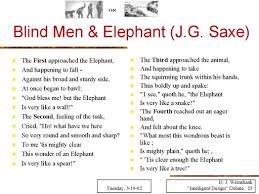 3 Blind Men And The Elephant Blind Men U0026 Elephant J G Saxe