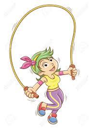 corde a sauter cuir corde à sauter fille saut en image