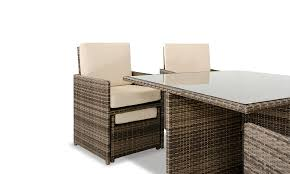 barcelona square compact table 4 fold out chairs and 4
