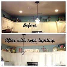 lights above kitchen cabinets above cabinet rope lighting rope lighting above the kitchen