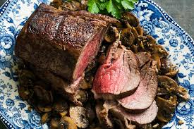 roast beef tenderloin with sautéed mushrooms recipe