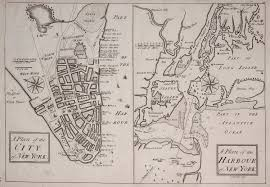 a map nyc vintage map from 1740 shows lower manhattan and york harbor in
