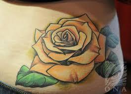 28 best yellow rose tattoos