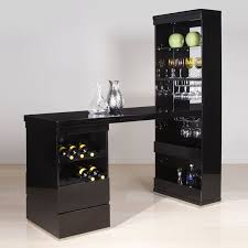 Wine Bar Table Decorations Splendid Black Wood Home Bar Table Ideas Glass