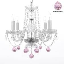Pink Chandelier Light Swag Chandeliers For Less Overstock Com