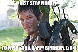 Walking Dead Birthday Meme - dixon walking dead crossbow imgflip