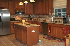 back splash designs for kitchen with beige and brown granite