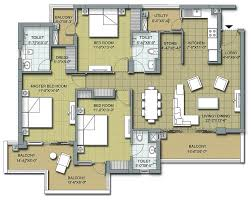 3 floor plan floor plans u2013 3 bhk and 4 bhk apartments in chandigarh