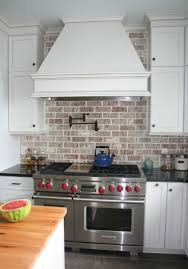 kitchen traditional kitchen counter backsplash using brick and