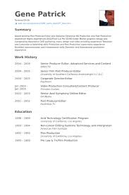 American Resume Sample by Senior Producer Resume Samples Visualcv Resume Samples Database