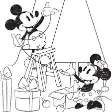 mickey u0026 minnie christmas coloring disney family