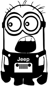 preppy jeep stickers jeep minion by stickermonkey on etsy https www etsy com listing