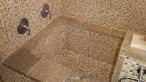 Tiling Bathtub Authentic Durango Stone Mosaic Meshmount Bathtub Modern