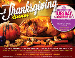 college thanksgiving dinner tuesday nov 24th
