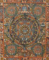 tappeti nepalesi asta di natale mobili tappeti dipinti thangka buddha