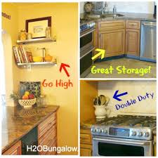 Small Kitchen Organizing - how to organize a small kitchen and get more space