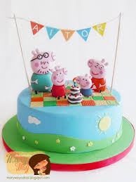 George Pig Cake Decorations 353 Best Peppa Pig Cakes Images On Pinterest Birthday Cakes