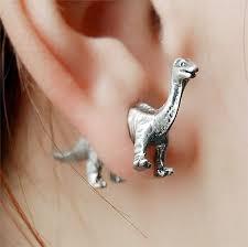 t rex earrings dinosaur earrings