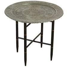 Persian Furniture Store In Los Angeles Antique Persian Copper Tray Side Table For Sale At 1stdibs