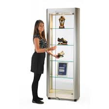 lockable glass display cabinet showcase tower showcase with lockable hinged door glass display cabinets