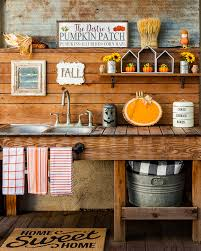 Outdoor Sink Ideas How To Decorate Your Outdoor Space For Fall Wood Slice Diy