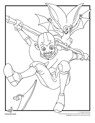 avatar coloring pages lineart avatar airbender