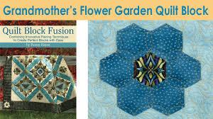 how to make a grandmothers flower garden quilt block penny haren