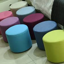 Soft Ottoman Yazi Wooden Hollow Stool Ottoman Sofa Chair Portable Furniture