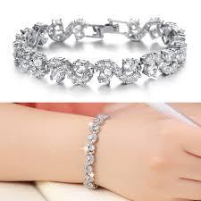 diamond bracelet women images Fashion woman jewelry luxury shining cubic zirconia rome charm jpg
