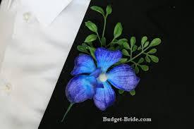 blue boutonniere blue dendrobium orchid boutonniere