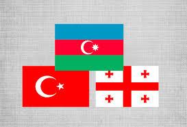 Georgian Flag Heads Of Customs Of Azerbaijan Georgia And Turkey Meet In Baku