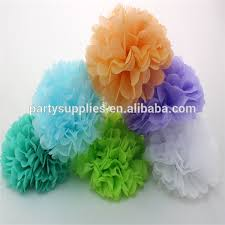 lovely table decorations mini tissue paper pom poms for wedding