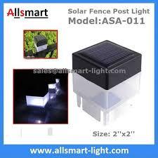 Solar Light For Fence Post - 2 u0027 u0027x 2 u0027 u0027 inch square solar fence post cap light for iron fences