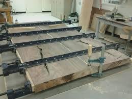 table top glue up walnut coffee table step 1 strack studio furniture llc