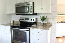 Easy To Clean Kitchen Backsplash by White Subway Tile Temporary Backsplash The Full Tutorial The