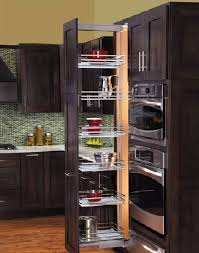 Decorations  Luxury Sliding Kitchen Pantry Decor With Black Wood - Black kitchen pantry cabinet