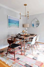 Colorful Dining Chairs by Dining Table Decor Ideas Mid Century Modern Buffet Round Dining