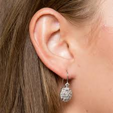 are leverback earrings for pierced ears db designs sterling silver diamond accent filigree oval leverback