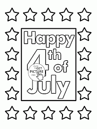 card for fourth of july coloring page for kids coloring pages