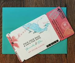 boarding pass save the date boarding pass magnet save the date mexico map destination