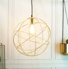 Ceiling Pendant Lights Gold Brass Globe Ceiling Pendant Light Orb Chandelier By Made With