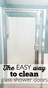 Clean Shower Glass Doors How To Clean Shower Glass Doors The Easy Way I This Diy Idea