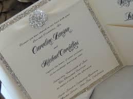 bling wedding invitations glitter brooch pocket wedding invitation