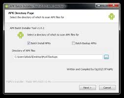 apk installer apk apk batch installer backup restore android apps to from pc