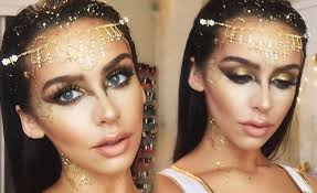 golden goddess halloween makeup tutorial youtube
