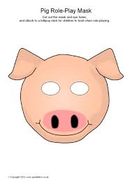 printable bull mask printable farm animal masks for kids sparklebox