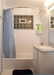 glass block bathroom ideas bathroom minimalist white small bathroom featuring blue curtain