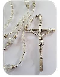 wedding rosary catholicshop lasso rosary in frosted glass wedding