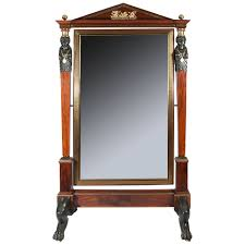 Nifty Mirror by Brown Wooden Carving Mirror Jewelry Box With Black Claw Legs Of