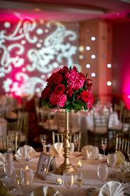 Red Roses Centerpieces Red Rose And Pink Hydrangea Tall Centerpieces